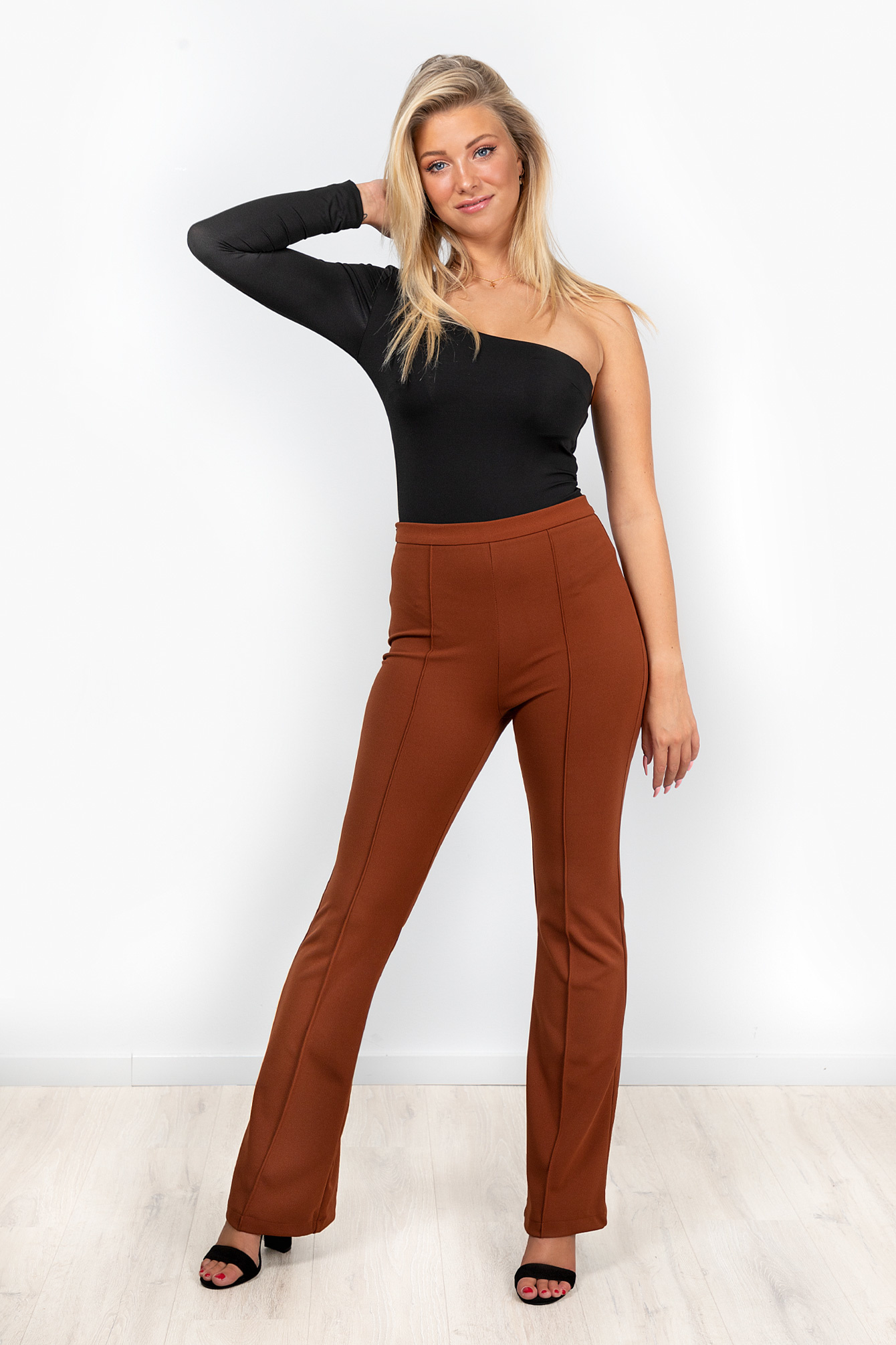 Flare broek Everly camel