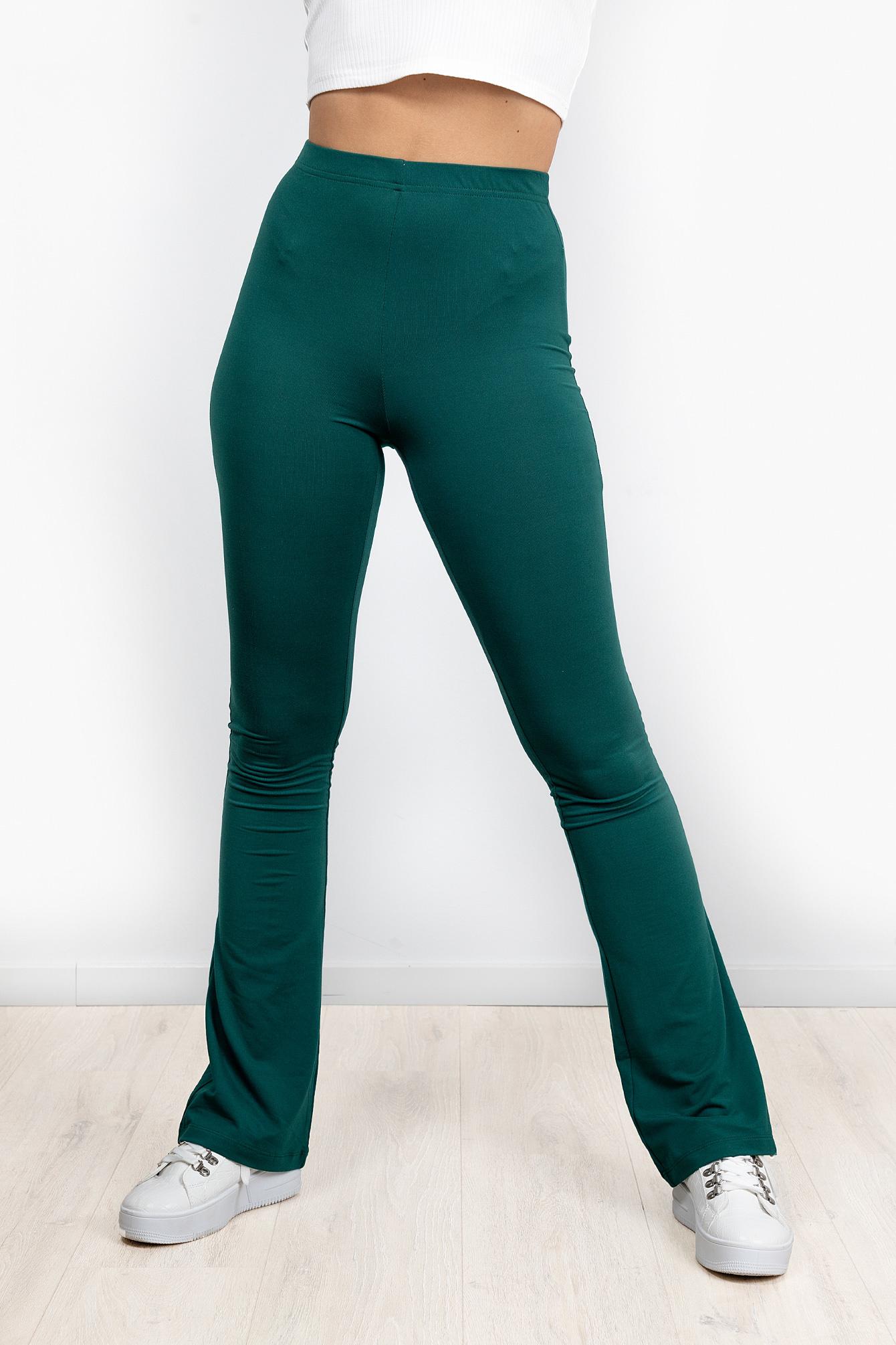 Flare broek Elodie groen
