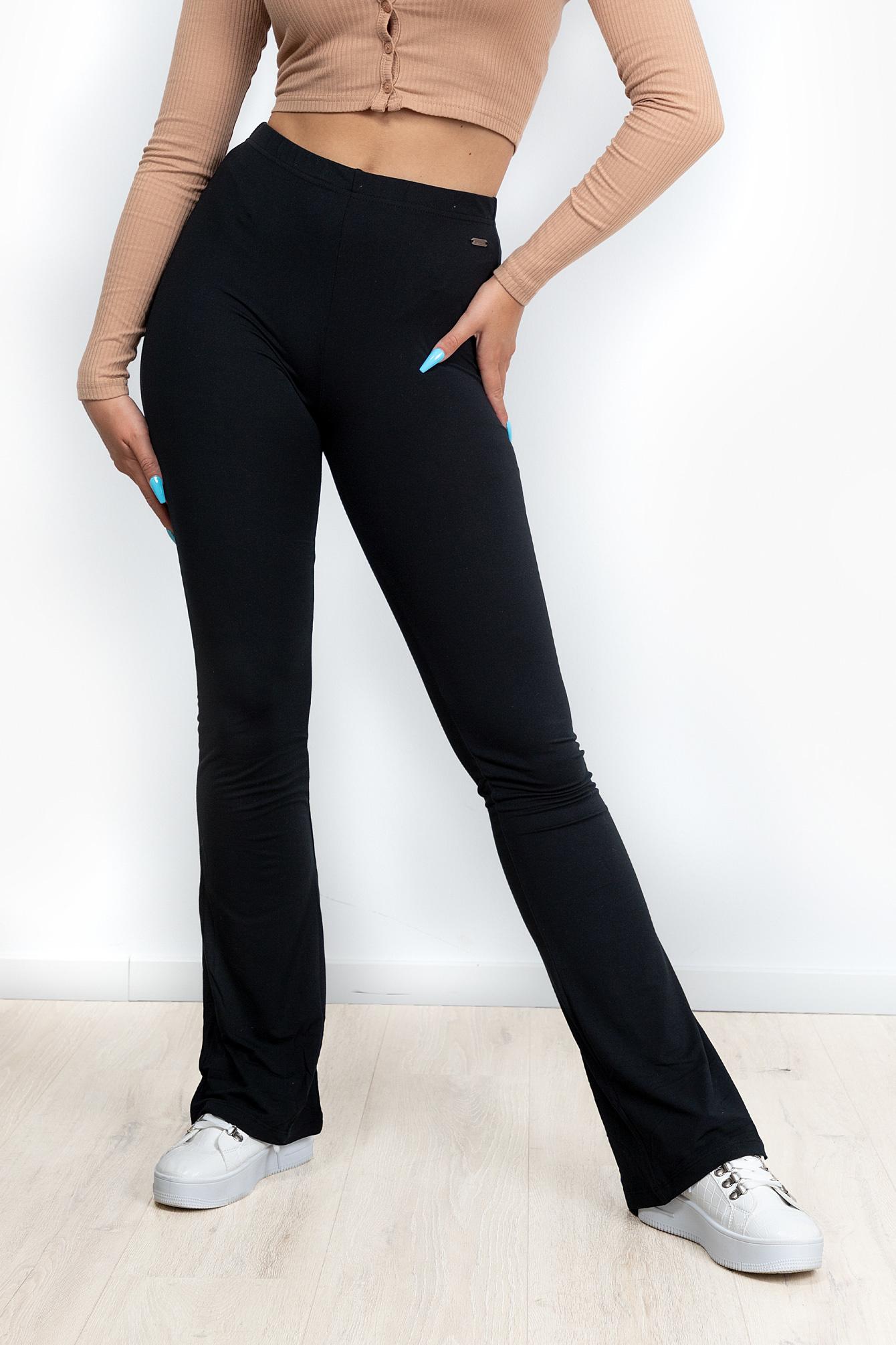 Flare broek Elodie zwart