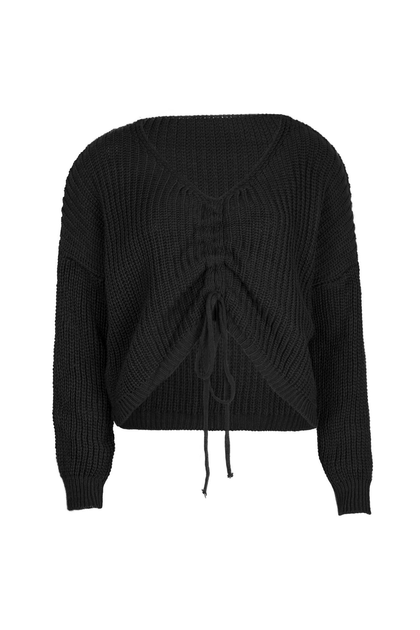 V-neck trui Jen zwart