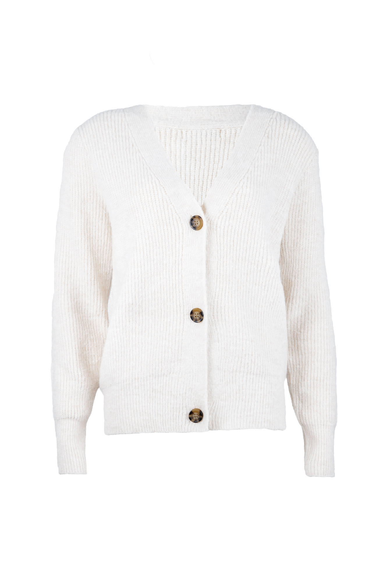 Button knit Vaja wit