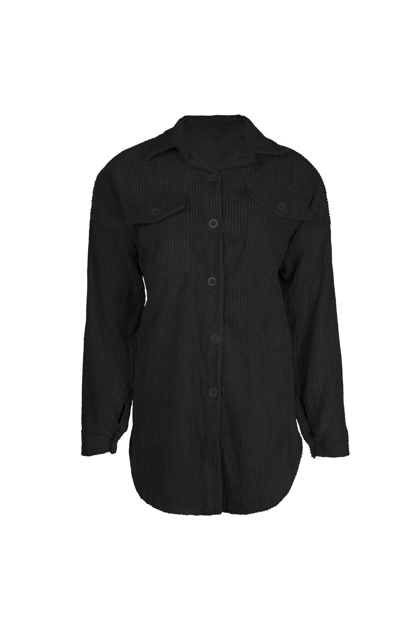 Rib blouse Sammy zwart