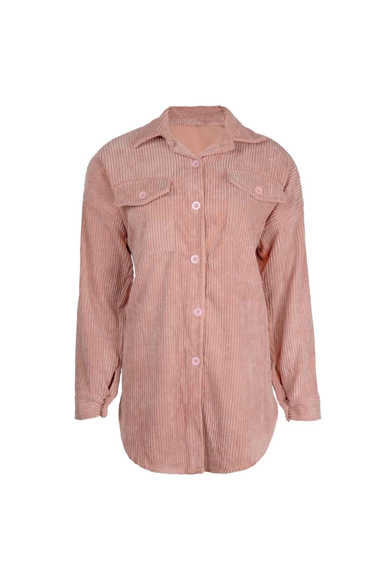 Rib blouse Sammy pink