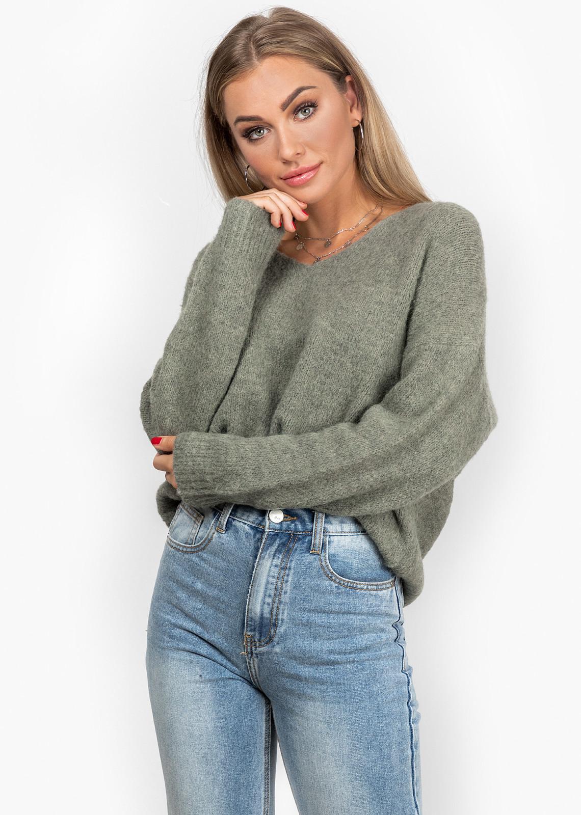 Cozy sweater kaki