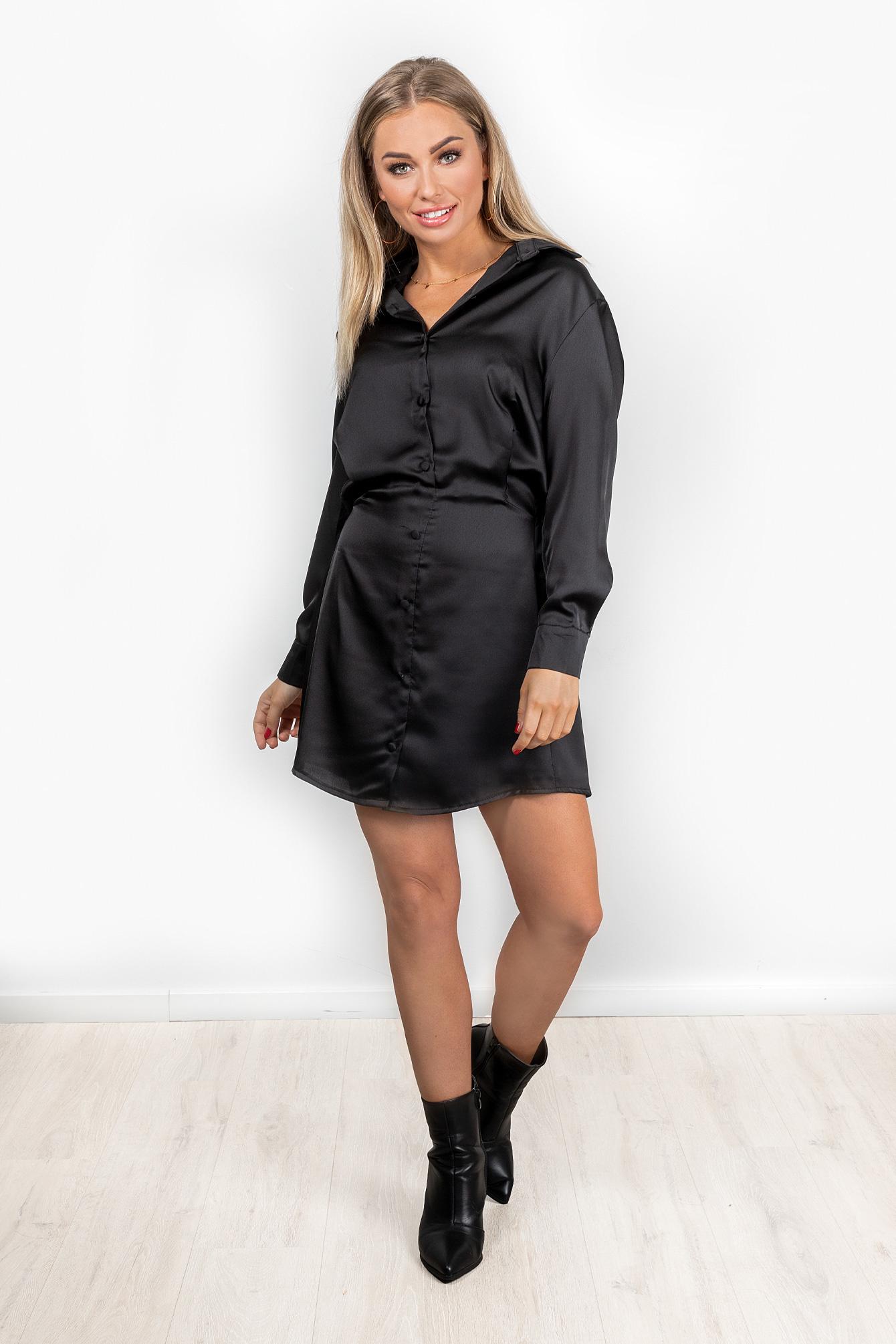 Satin dress Jaimy zwart