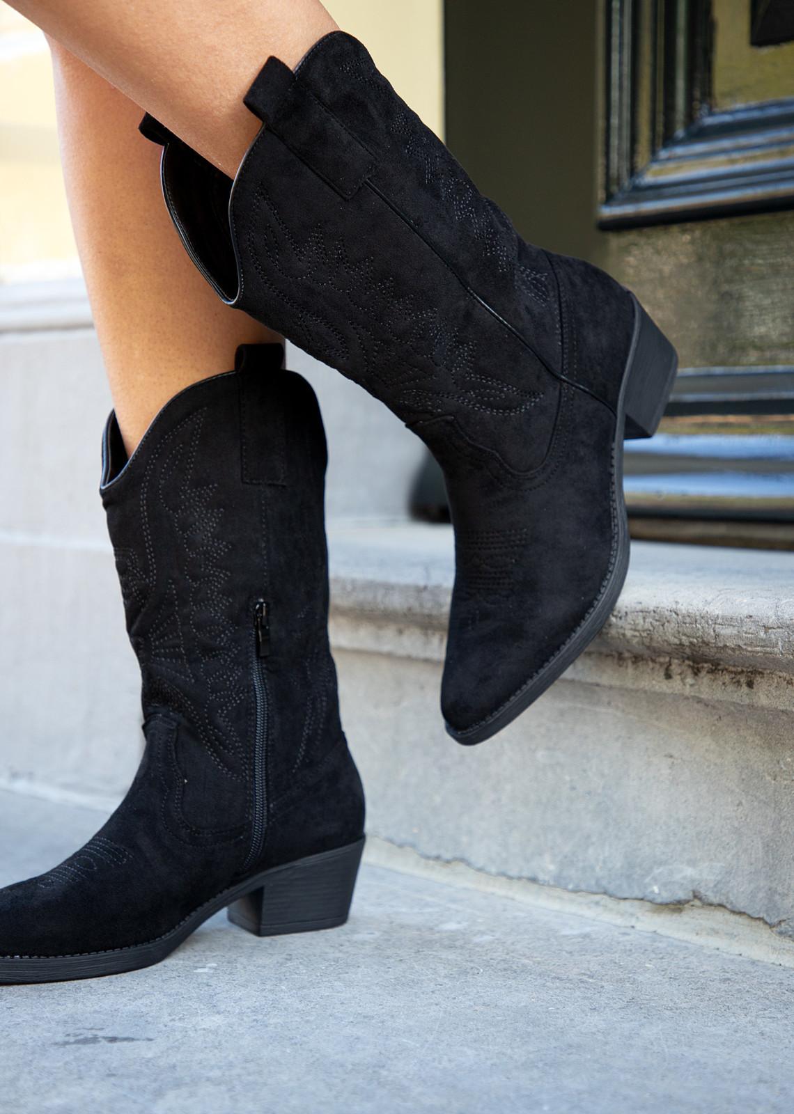 Cowboy laars Lana zwart