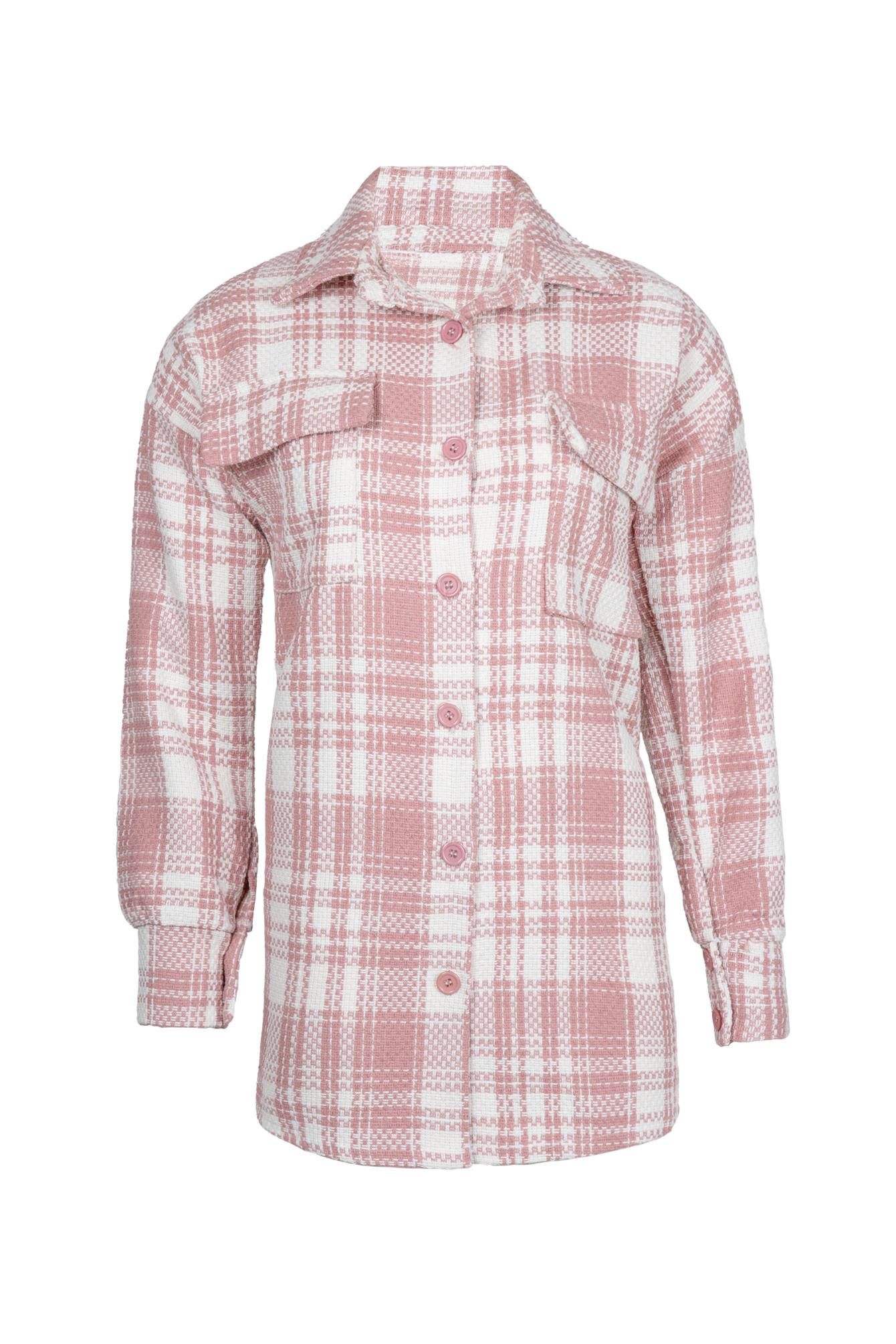 Tartan blouse Jinke pink