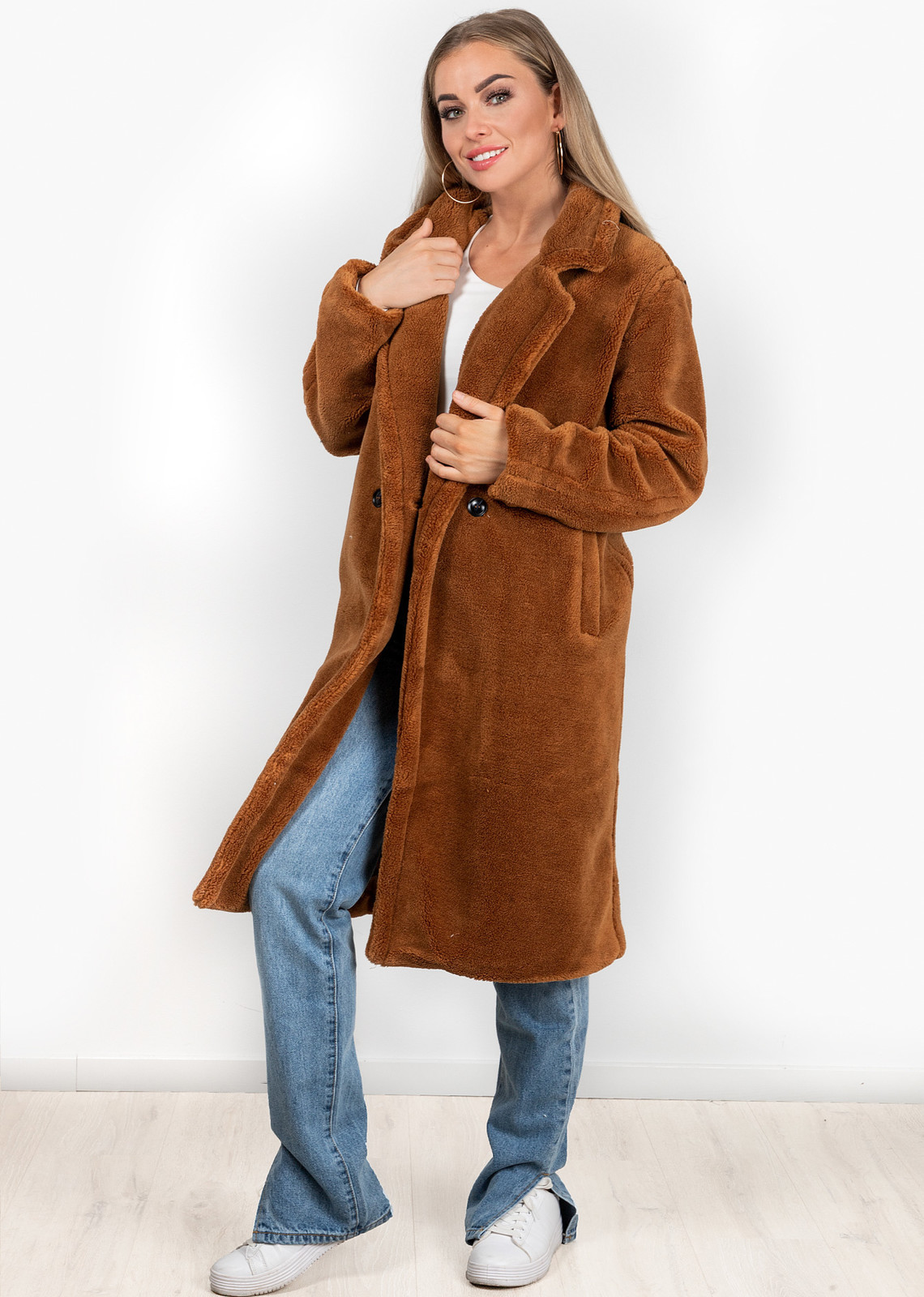 Teddy coat camel