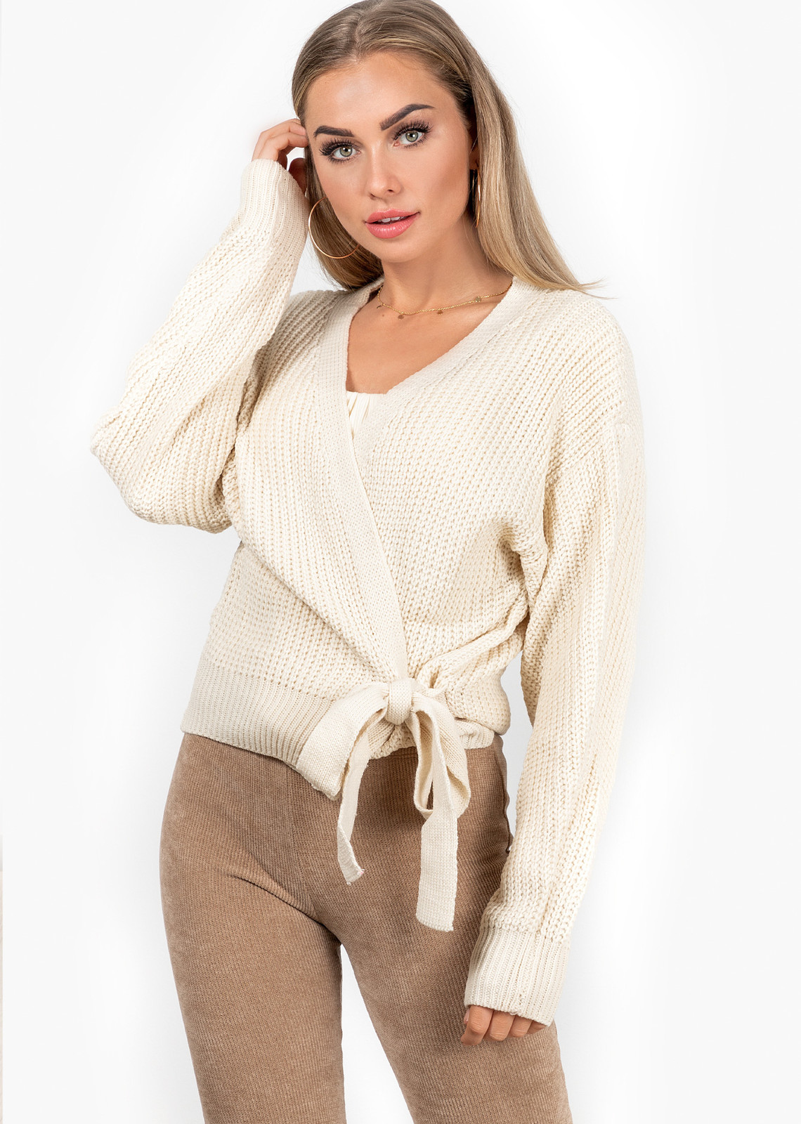 Wrap knit Jazz off beige