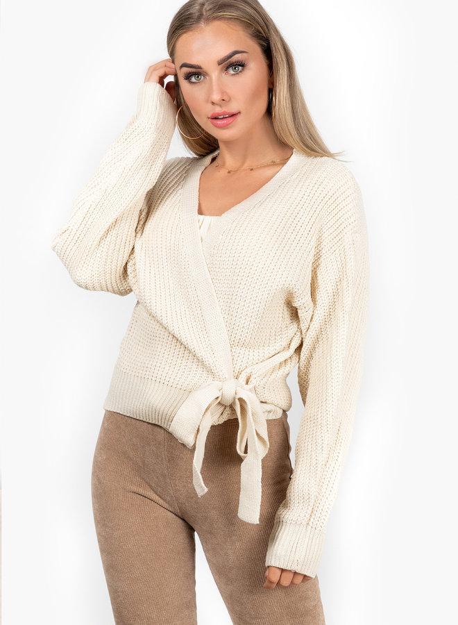 Wrap knit Jazz off beige
