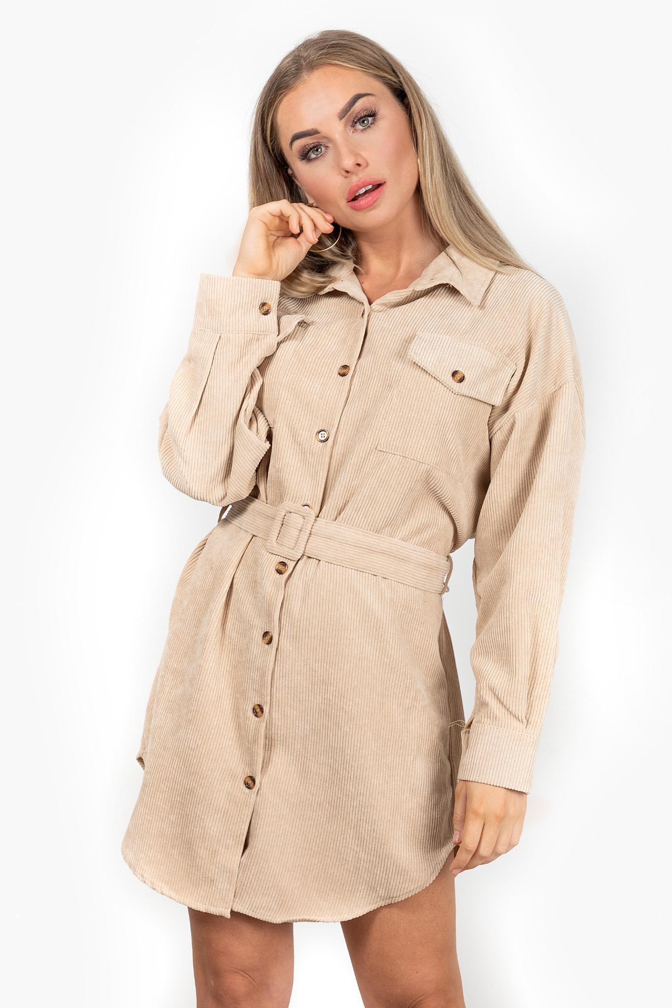 Rib dress Mily beige