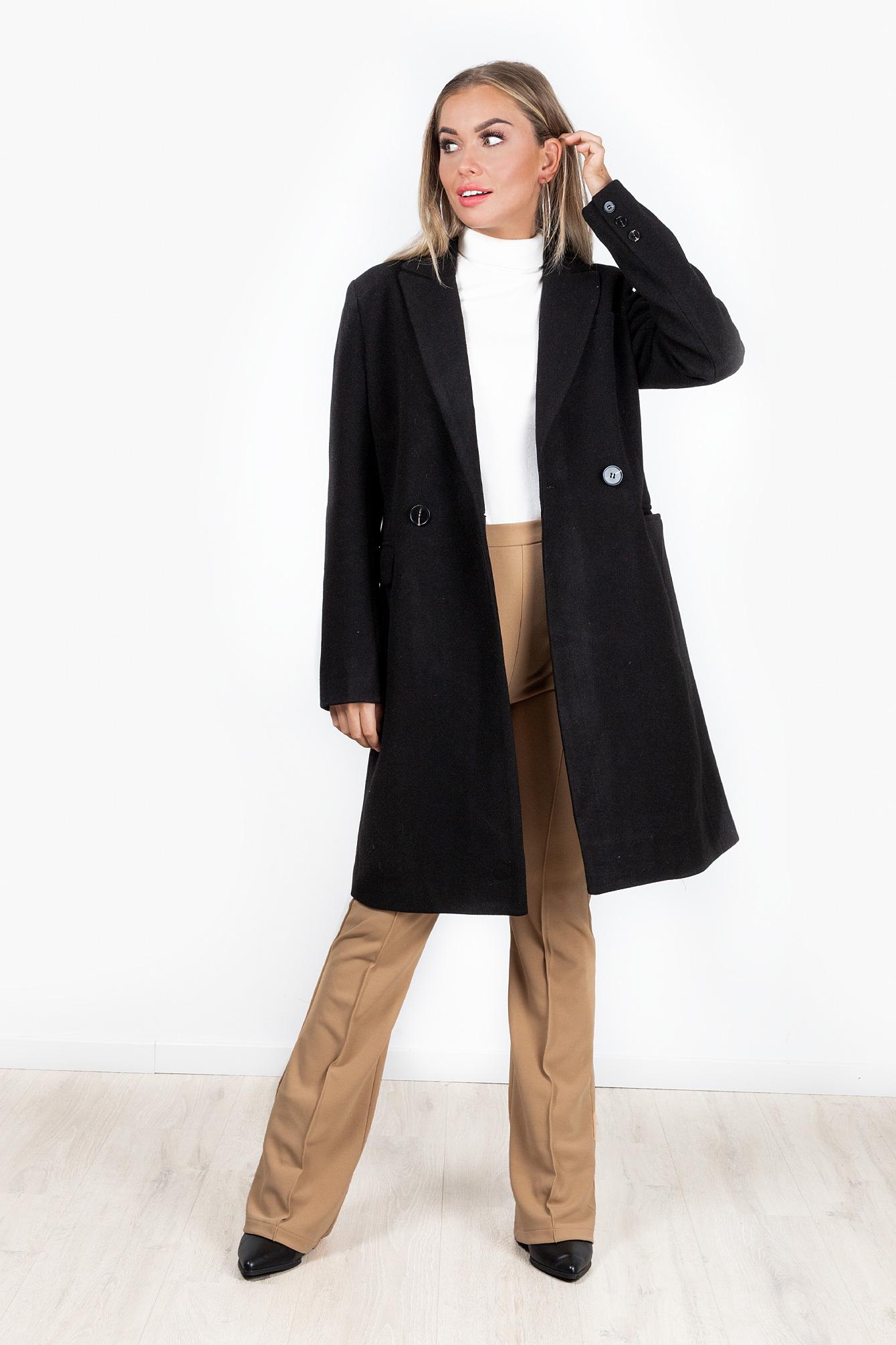 Zwarte coat Rinke