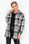 Tartan blouse Jinke zwart
