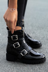 Biker boots lak