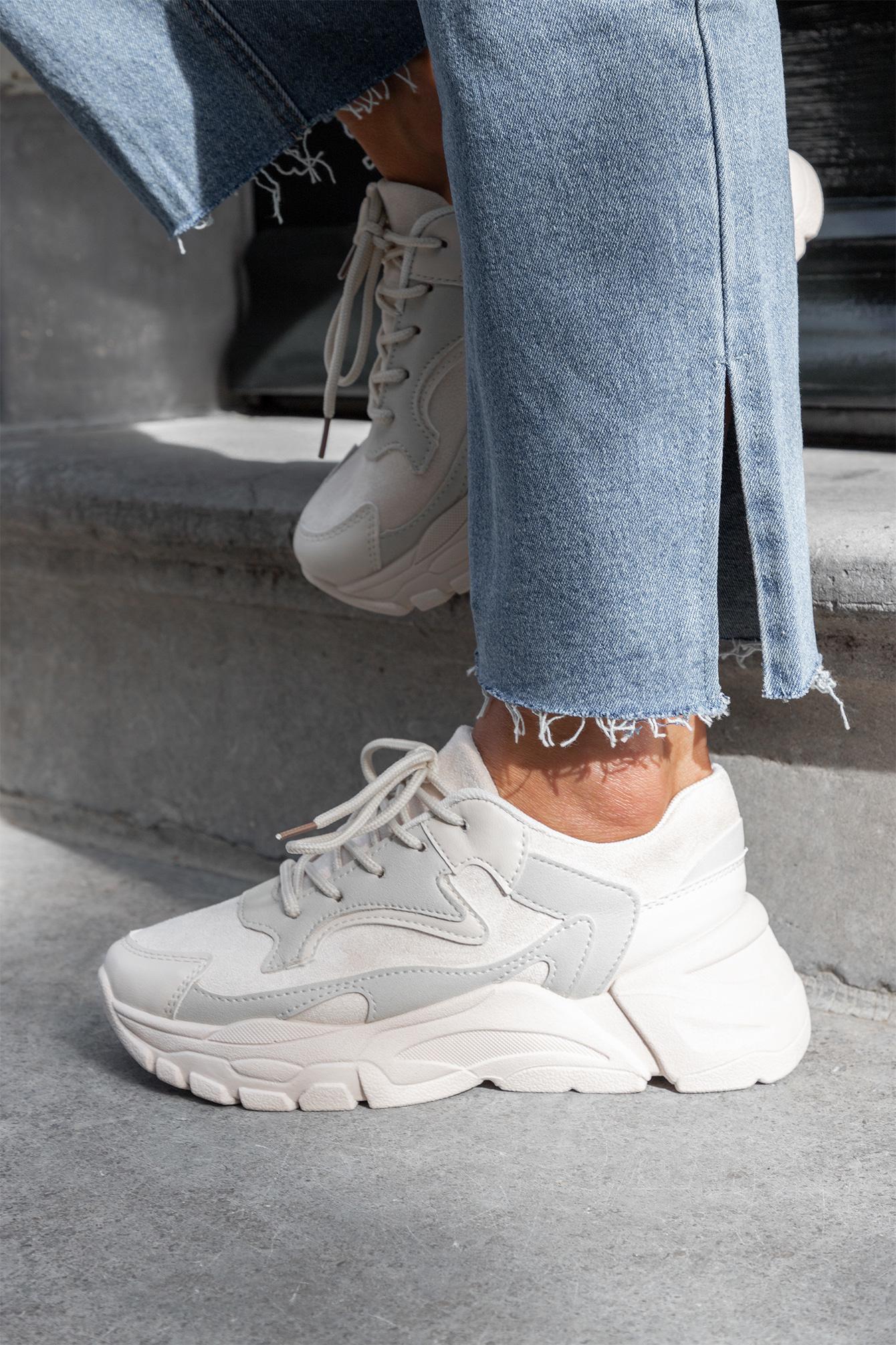 Dad sneaker Leana beige