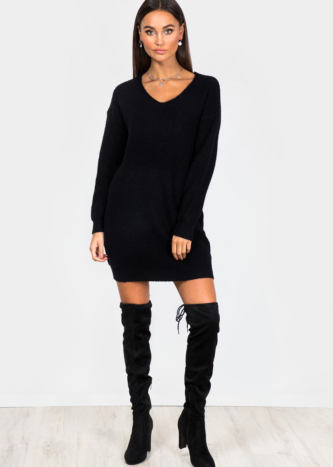 Lange trui Kylie zwart