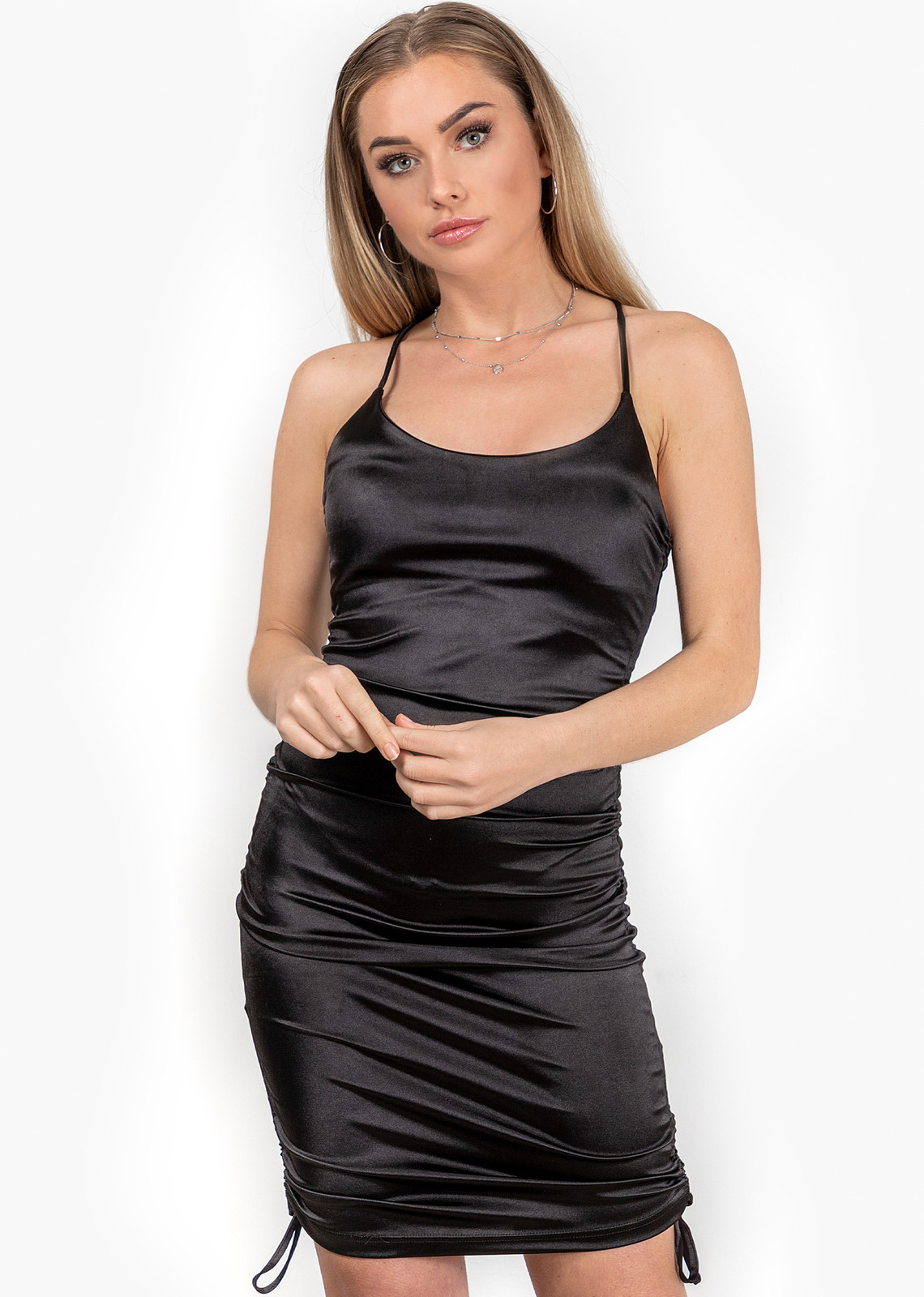 Satin dress Nora black