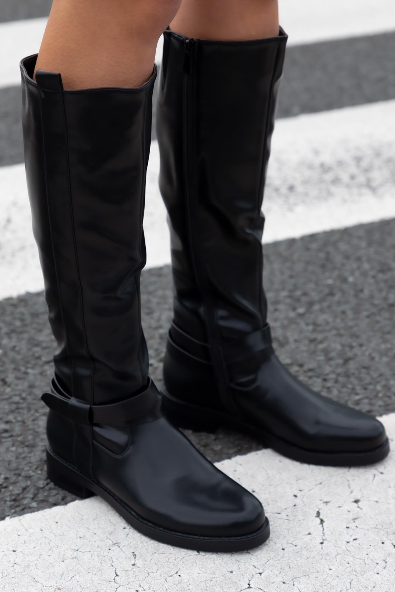 Hoge zwarte boots Sandra