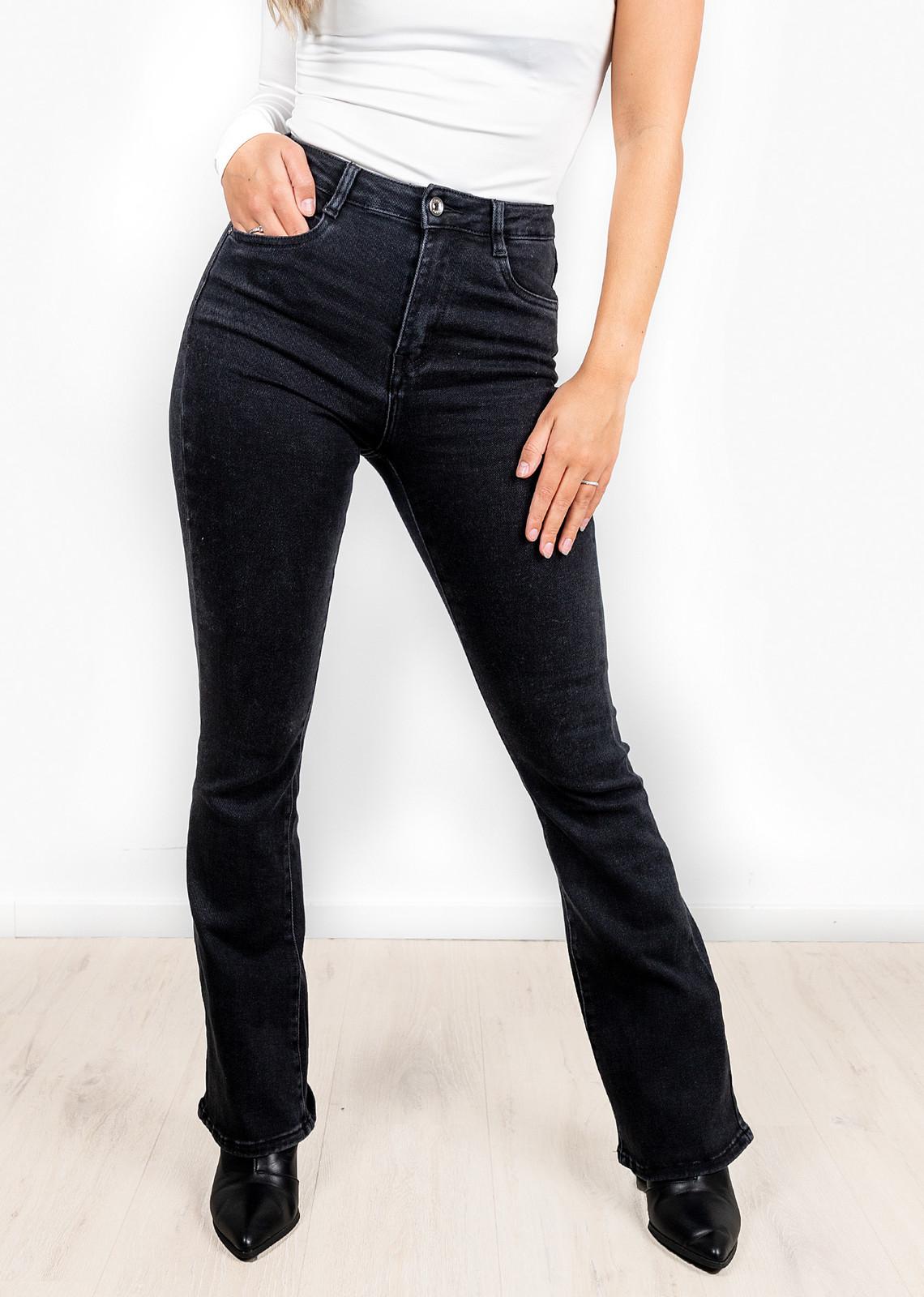 Flare denim jeans Giana zwart