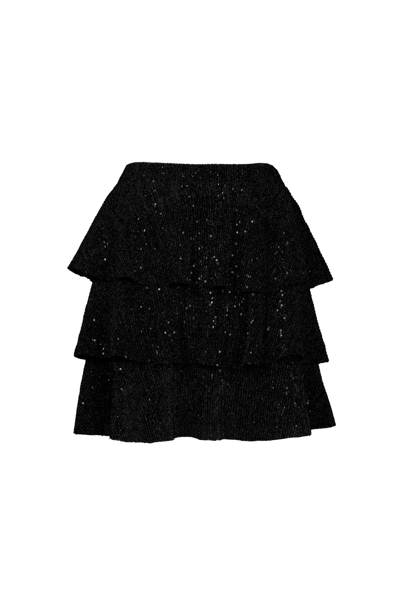 Glitter rok Amy zwart