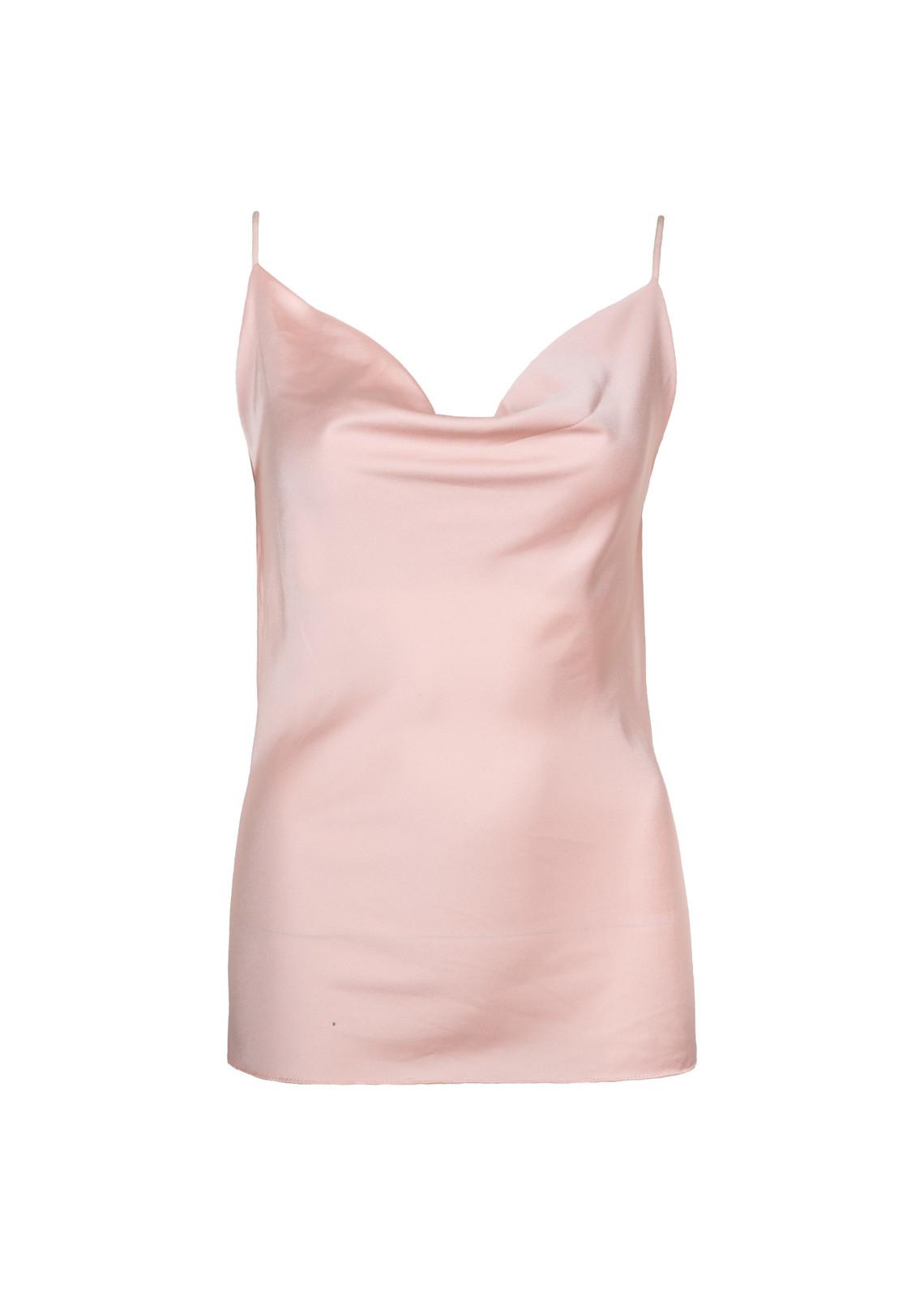 Satin top baby pink