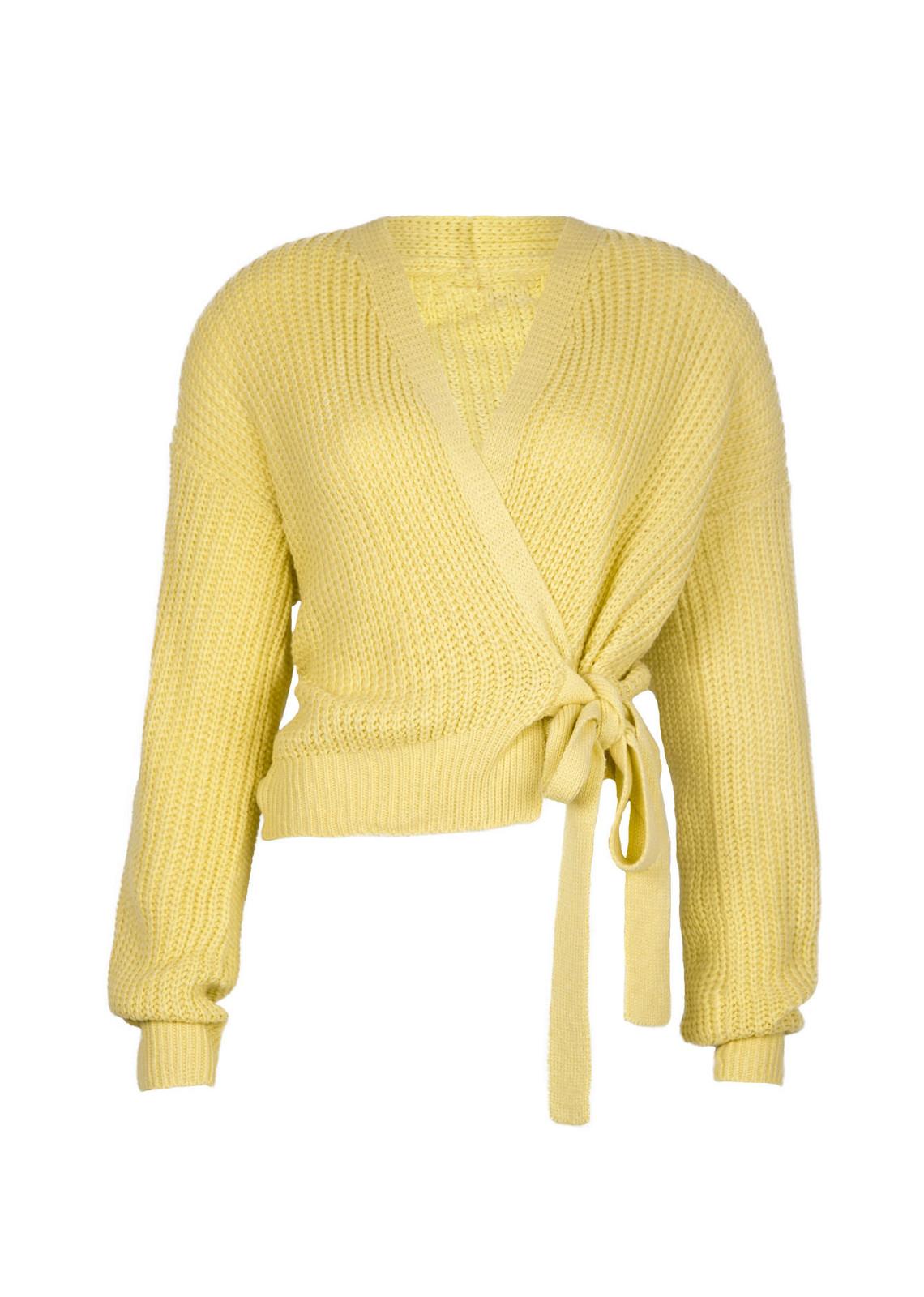 Wrap knit Jazz yellow