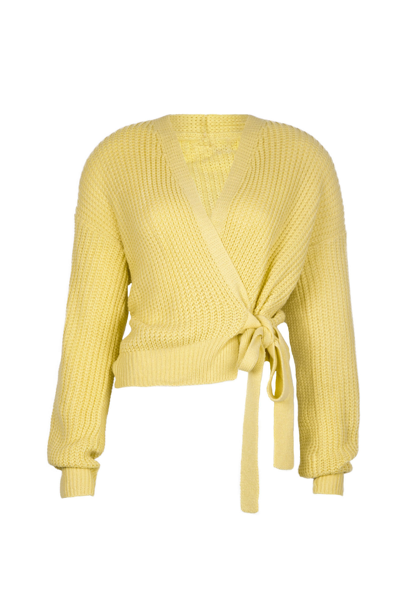 Wrap knit Jazz yellow