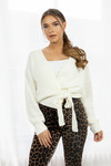 Wrap knit Jazz white
