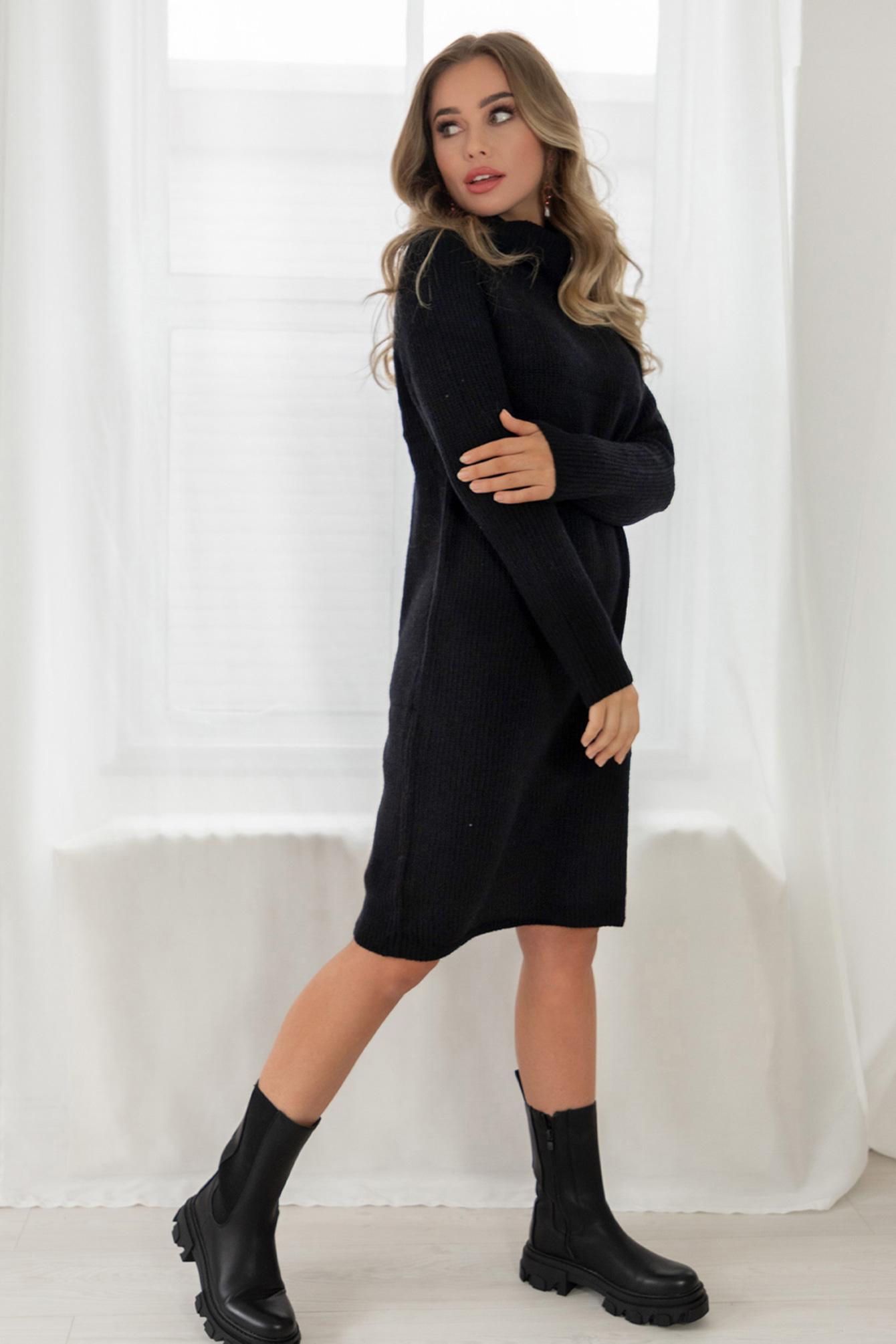 Sweater dress black Mandy