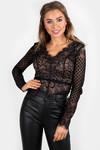 La love body top black long sleeve