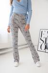 Cheetah flare pants