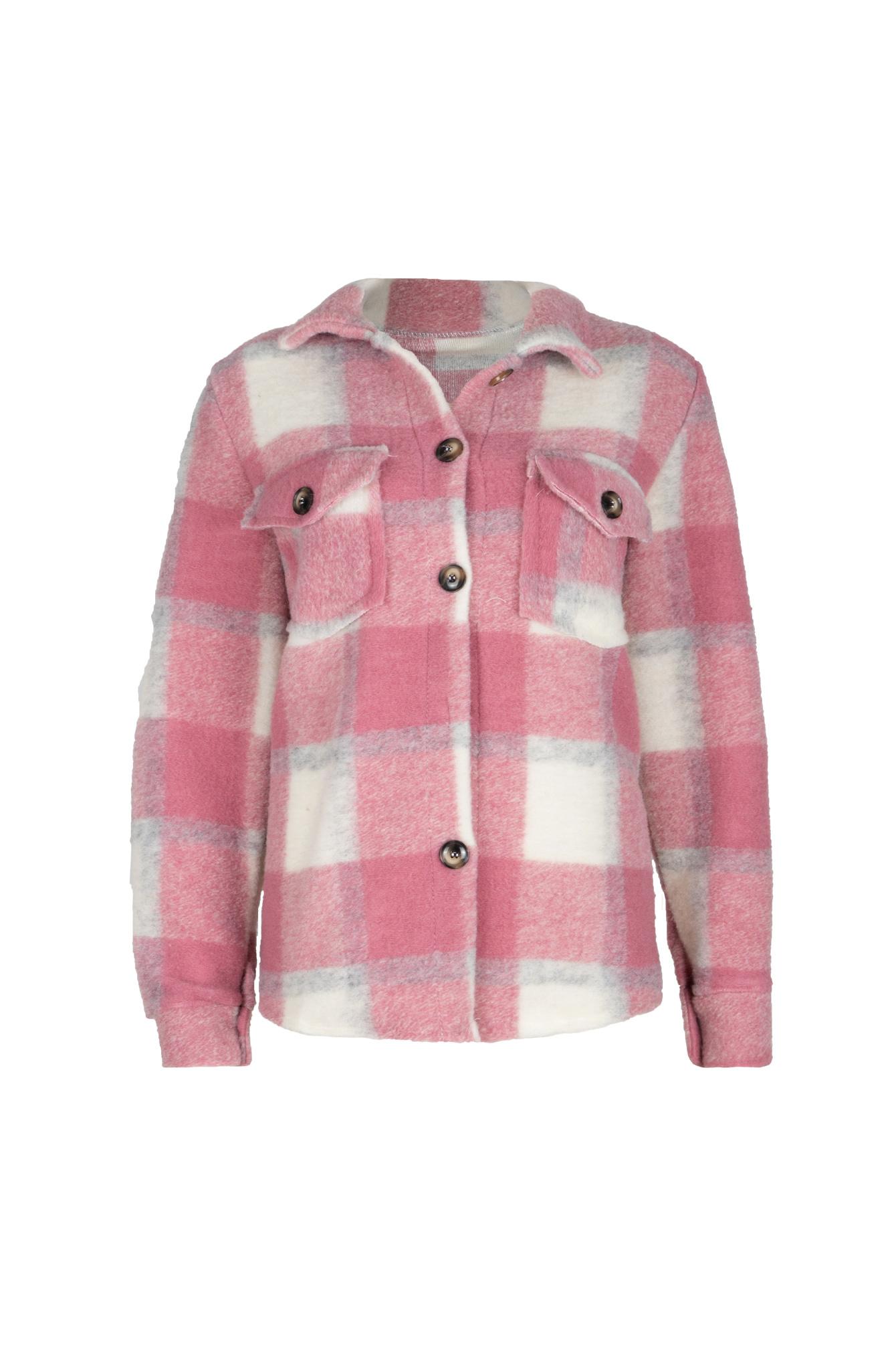 Ruitjes blouse Milou pink