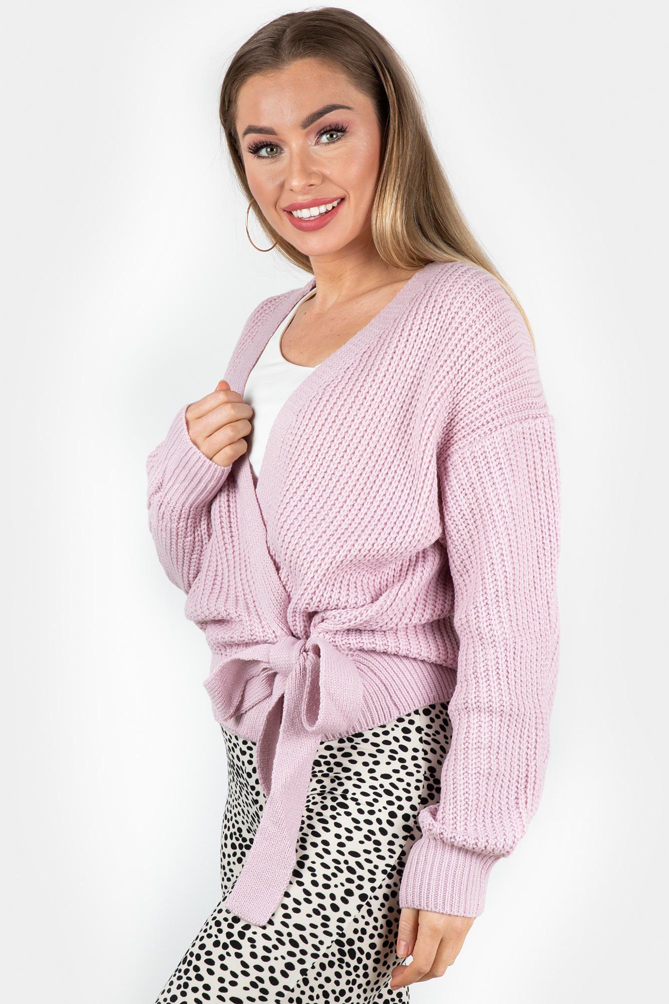 Wrap knit Jazz pink