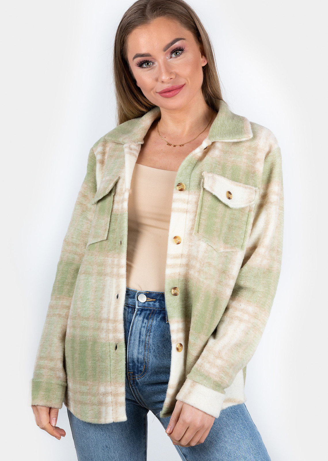 Ruitjes blouse Milou