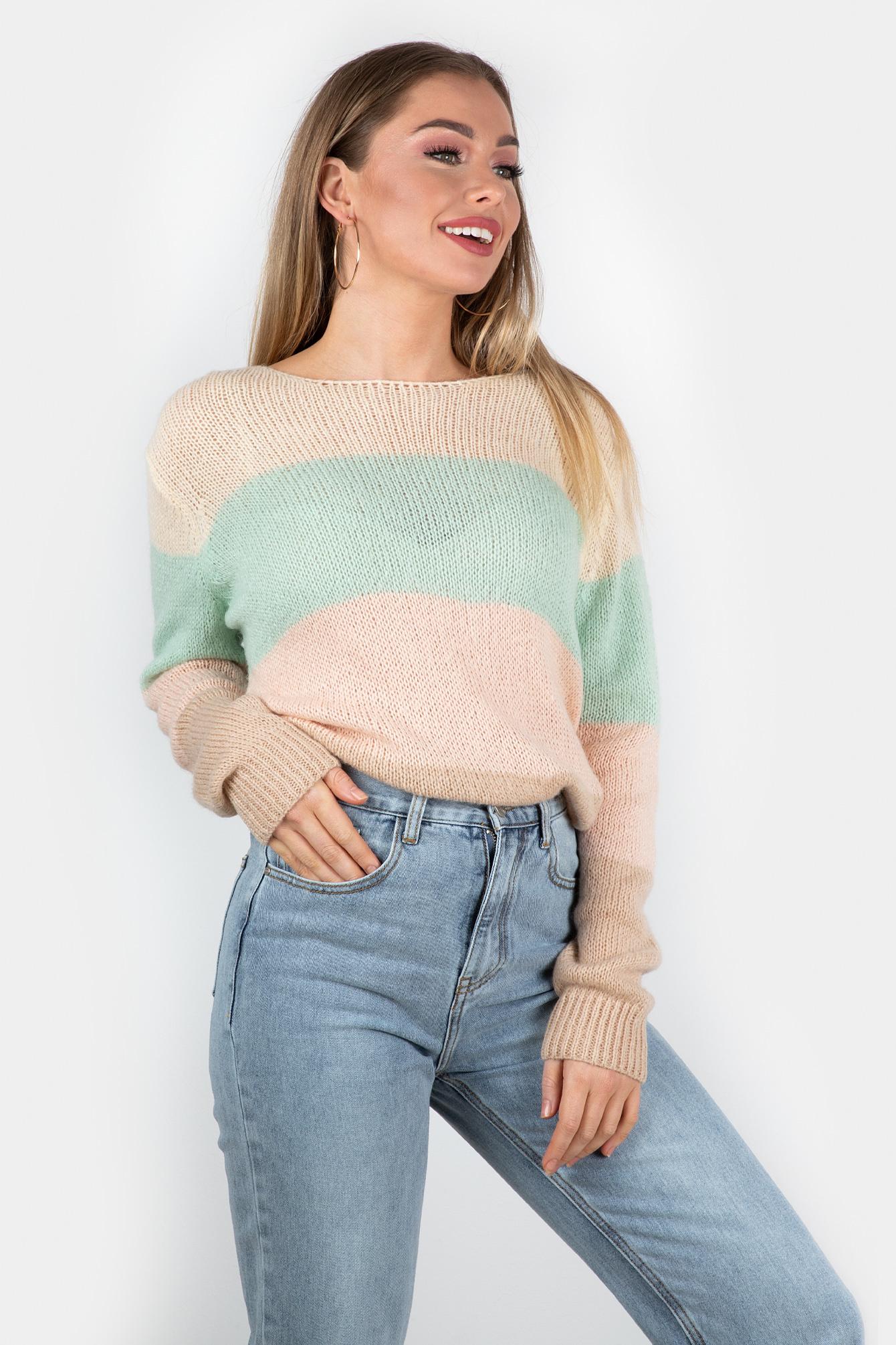 Sweater Amy pink stripe