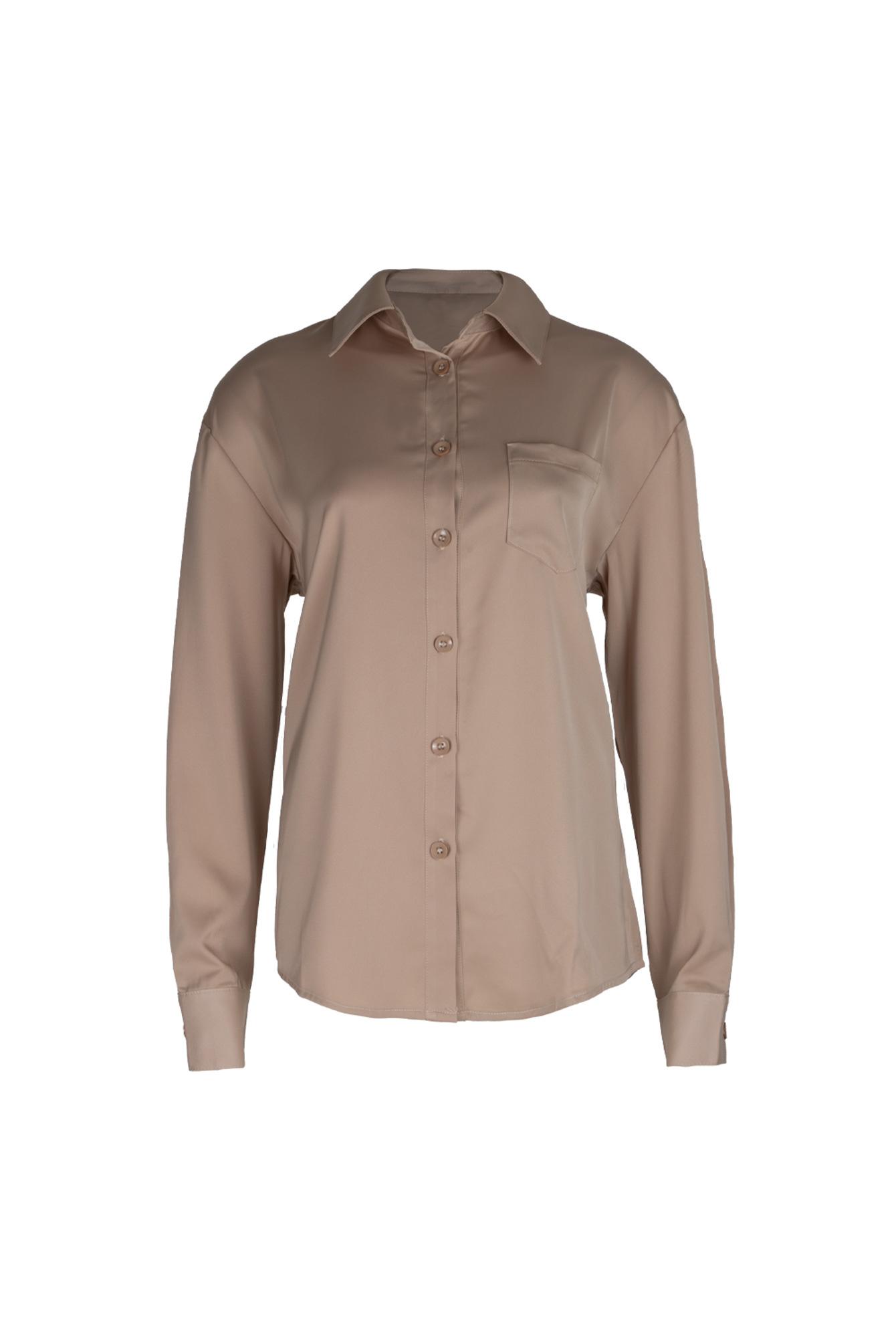 P'J satin blouse beige