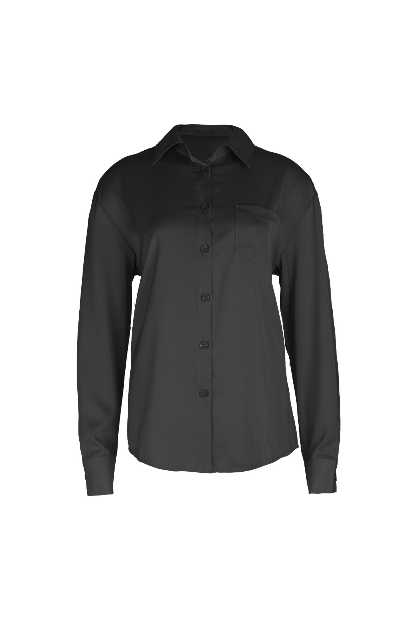 P'J satin blouse black