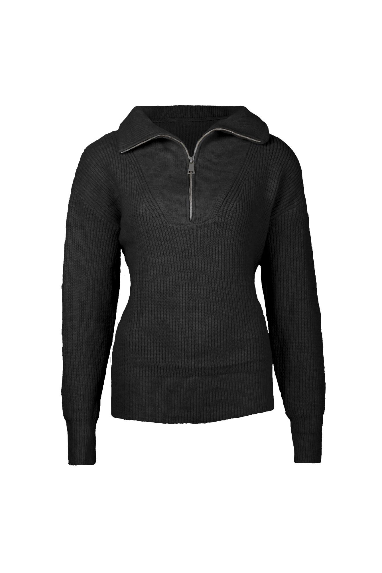 Zip knit zwart