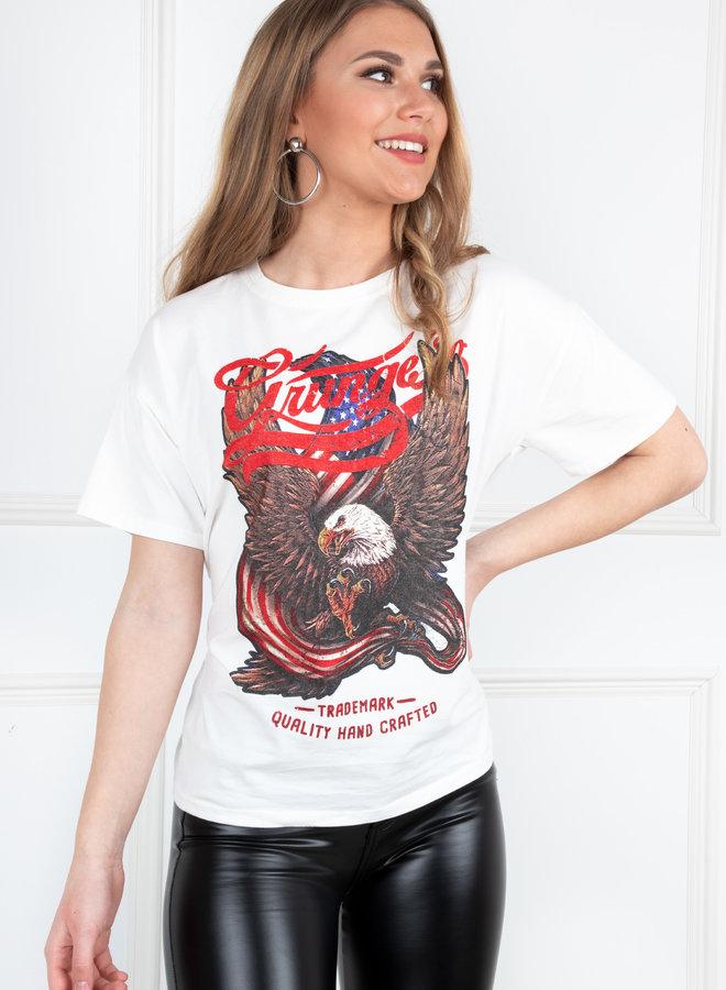 T-shirt Eagle white