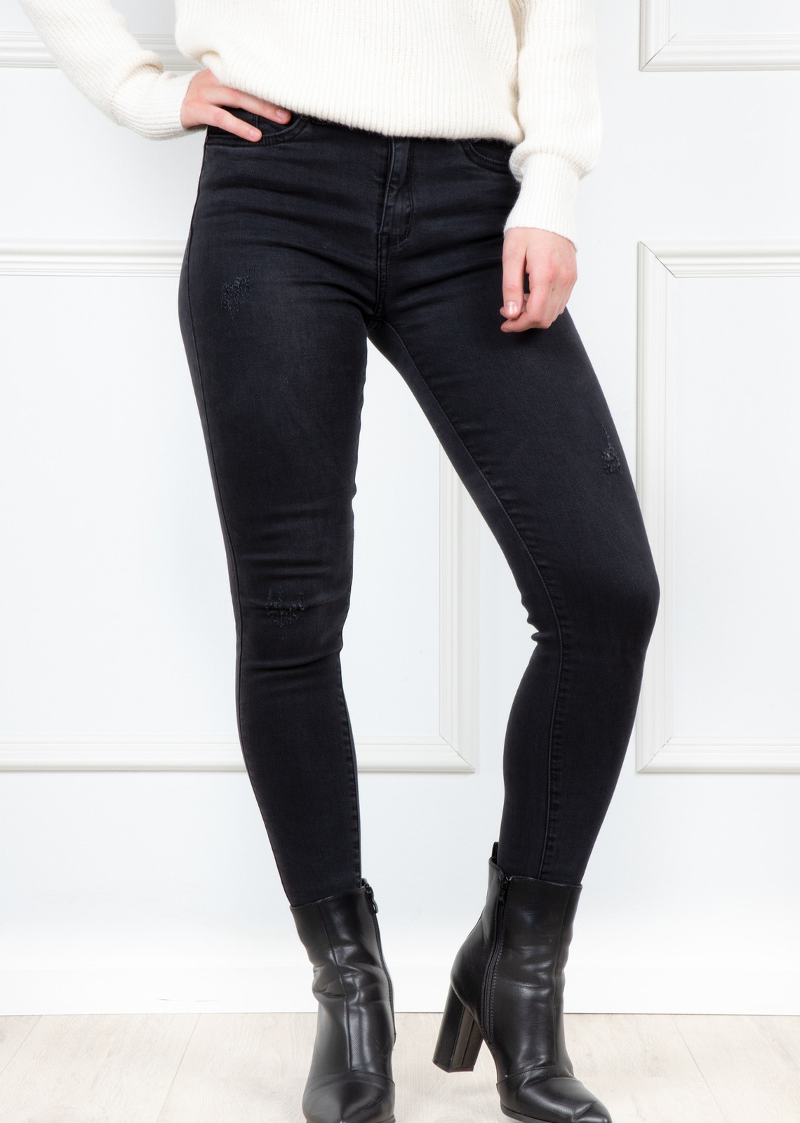Denim jeans Anique zwart