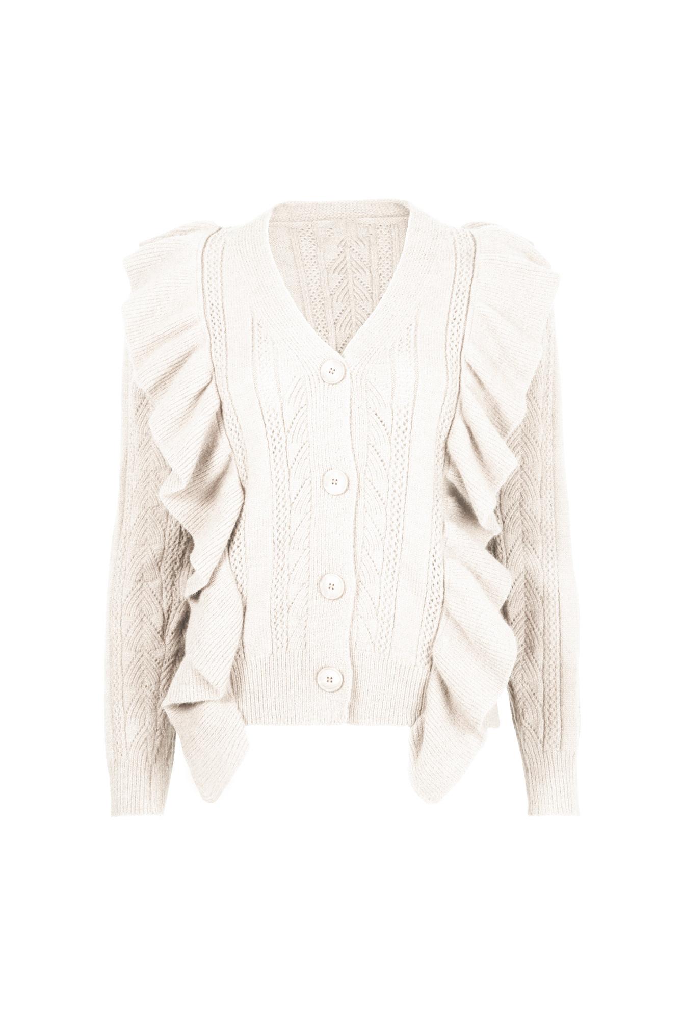 Button knit Dilara beige