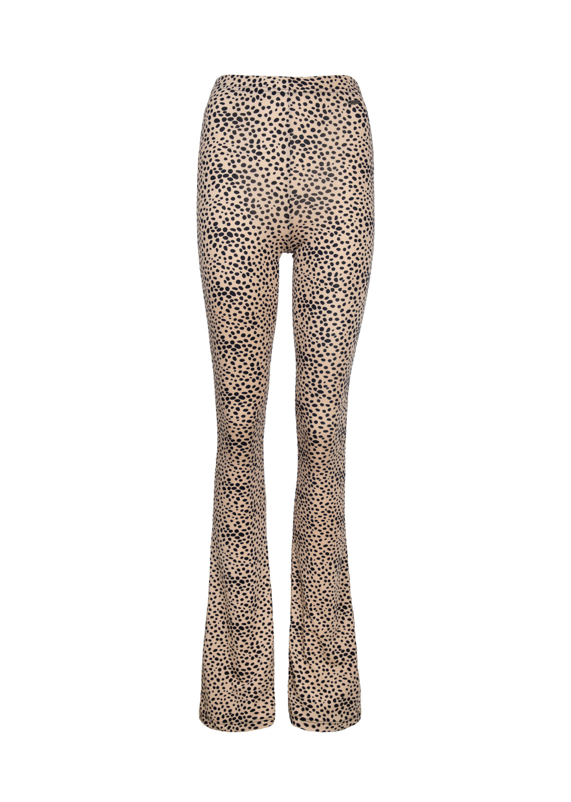 Cheetah flare pants beige