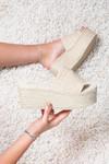 Slipper platform Coco beige