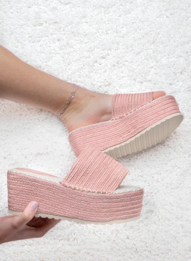 Slipper platform Coco pink