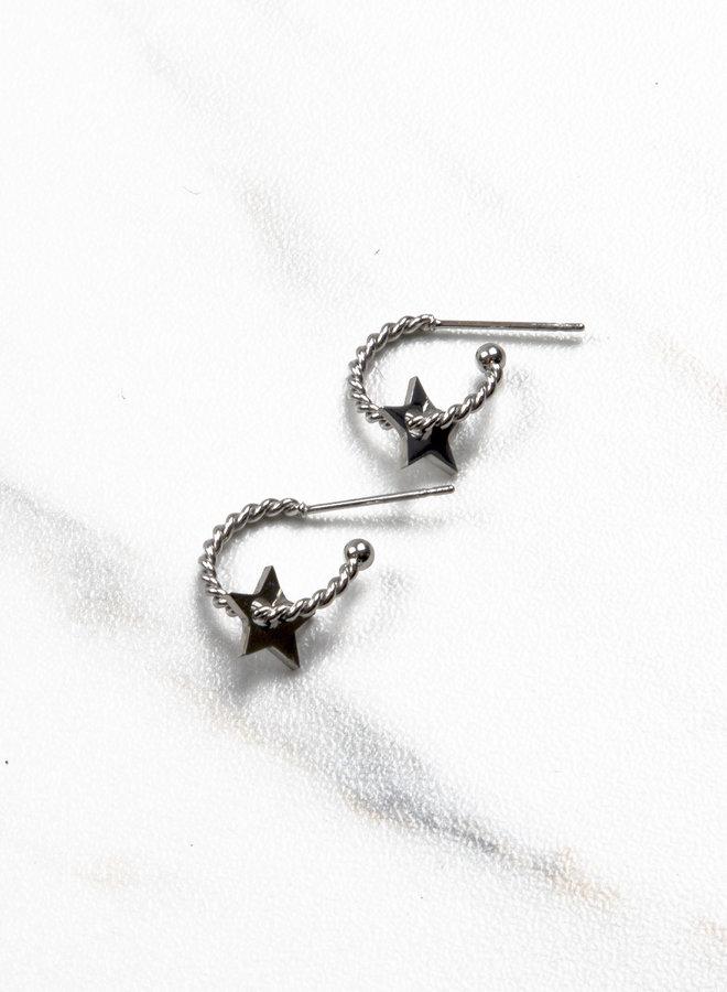 Earring like a star silver