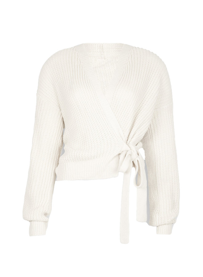 Wrap knit Jazz white