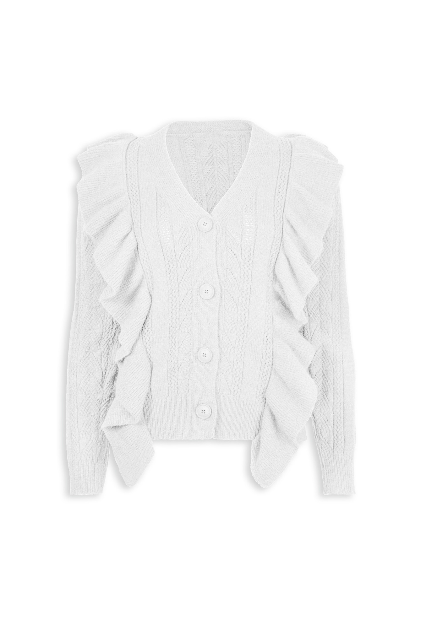 Button knit Dilara wit