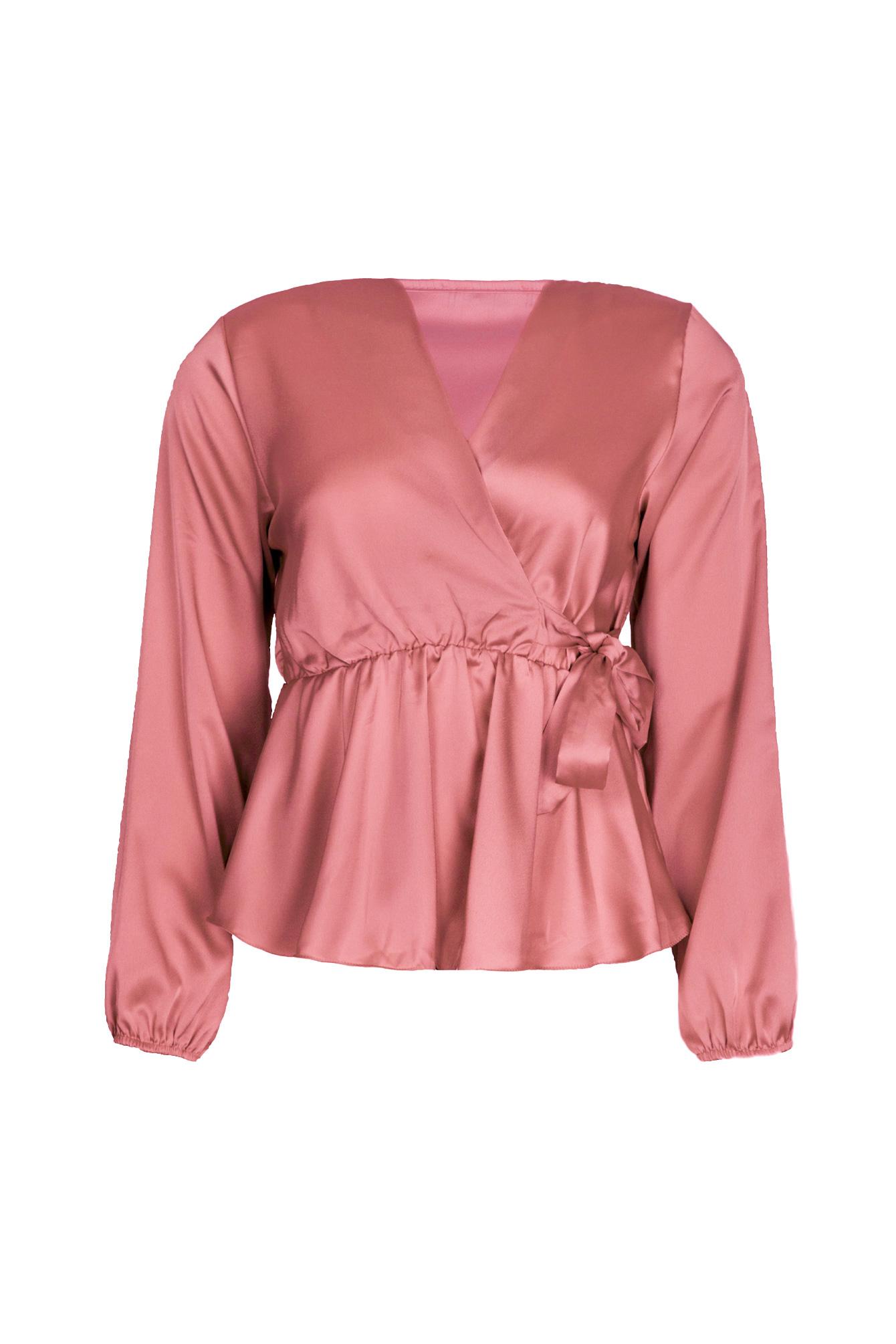 Blouse satin Avery pink