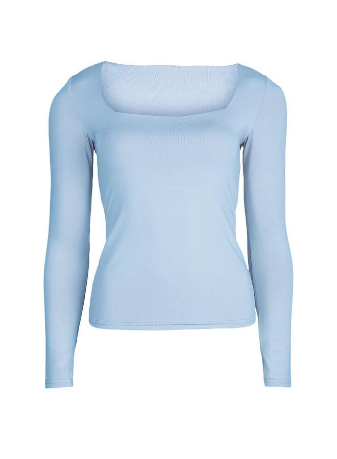 Basic stretch top Daisy blue