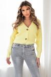 Button knit Vaja yellow
